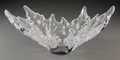 Art Glass, Lalique Clear and Frosted Glass Champs Elysees Bowl.Post-1945. Engraved Lalique, France. L. 18 in.. ...