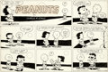 Original Comic Art:Comic Strip Art, Charles Schulz Peanuts Sunday Comic Strip Charlie Brown and Lucy Original Art dated 2-14-54 (United Feature Syndic...