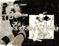 Original Comic Art:Covers, Frank Miller Elektra Saga #4 Wraparound Cover Original Art (Marvel, 1984)....