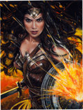 Original Comic Art:Paintings, Olivia (Olivia De Berardinis) - Wonder Woman (Gal Gadot) Painting Original Art (2017)....