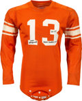 Football Collectibles:Uniforms, Circa 1956-57 Don Maynard Game Worn & Signed Texas Western Miners Jersey....