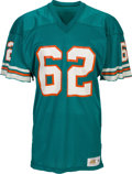 Football Collectibles:Uniforms, 1979 Jim Langer Game Worn Miami & Signed Dolphins Jersey. ...