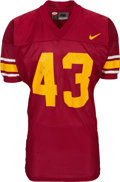 Football Collectibles:Uniforms, 2001 Troy Polamalu Game Worn & Signed USC Trojans Jersey....