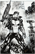 Original Comic Art:Covers, Hoang Nguyen Punisher #81 Cover Original Art (Marvel,1993)....