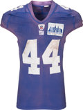 Football Collectibles:Uniforms, 2010 Ahmad Bradshaw Game Worn, Unwashed New York Giants Jersey - With New Meadowlands Inaugural Game Patch (Photo Matched)!...