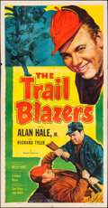 """Movie Posters:Adventure, The Trail Blazers & Other Lot (Allied Artists, 1953). Folded,Fine-. Three Sheet (41"""" X 79.5""""), One Sheet (27"""" X 41"""")..."""