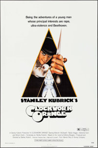 """A Clockwork Orange (Warner Brothers, 1971). One Sheet (27"""" X 41"""") Rated R Style. Science Fiction"""