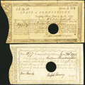 Colonial Notes:Connecticut, State of Connecticut Treasury Office £5.19s.10d June 1, 1782 VeryFine;. State of Connecticut Comptroller's Office £5 Jan.... (Total:2 notes)