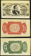 Fractional Currency:Third Issue, Fr. 1291/94SP 25¢ Third Issue Wide Margin Trio Choice About New or Better.. ... (Total: 3 notes)
