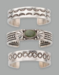 American Indian Art:Jewelry and Silverwork, Three Southwest Bracelets... (Total: 3 Items)