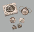 American Indian Art:Jewelry and Silverwork, Five Navajo Items ... (Total: 5 Items)