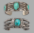 Jewelry:Bracelets, Two Navajo Bracelets... (Total: 2 )