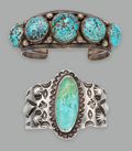 American Indian Art:Jewelry and Silverwork, Two Navajo Bracelets... (Total: 2 Items)