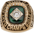 Baseball Collectibles:Others, 1989 Oakland Athletics World Series Championship Ring. ...