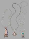 American Indian Art:Jewelry and Silverwork, Three Navajo Necklaces . Richard Begay... (Total: 3 Items)