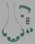 American Indian Art:Jewelry and Silverwork, Five Zuni Jewelry Items... (Total: 5 Items)