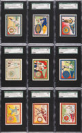 Olympic Cards:General, 1910 T51 Murad Cigarettes College Series Near Master Set(170/200)....