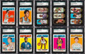 Basketball Cards:Sets, 1972 Topps Basketball High Grade Complete Set (233) Plus TrioStickers Set (24). ...