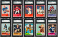 Football Cards:Sets, 1960, 1962, 1963 Fleer Football Complete Sets Trio (3). ...