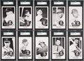 Baseball Cards:Sets, 1959 Home Run Derby SGC Graded Complete Set (20). ...