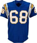 Football Collectibles:Uniforms, 1961 Orlando Ferrante Game Worn San Diego Chargers Jersey - Possibly Used in AFL Championship Game!...