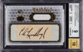Non-Sport Cards:Singles (Post-1950), 2008 SP Legendary Cuts Hair Cut Signatures Charles Lindbergh#HCS-CL BGS Mint 9-Autograph 10 #'d 1/1. ...