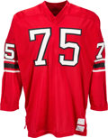 Football Collectibles:Uniforms, 1970's George Kunz Game Worn Atlanta Falcons Jersey....