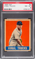 Baseball Cards:Singles (1940-1949), 1948 Leaf Virgil Trucks #5 PSA NM-MT 8 - Pop Four, None Higher. ...