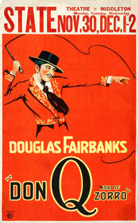 "Don Q, Son of Zorro (United Artists, 1925). Window Card (13.5"" X 22"")"
