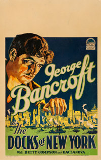 "The Docks of New York (Paramount, 1928). Window Card (14"" X 22"")"