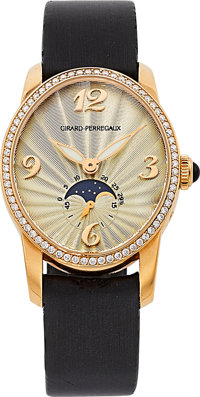 Girard Perregaux Lady's Diamond, Rose Gold Cat's-Eye Watch