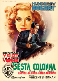 "All Through the Night (Warner Brothers, 1949). First Post-War Release Italian 2 - Fogli (39"" X 55"") Luigi Mart..."