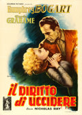 "Movie Posters:Film Noir, In a Lonely Place (Columbia, 1950). Italian 2 - Fogli (39.5"" X 55.5"") Anselmo Ballester Artwork.. ..."