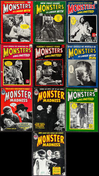 """Monsters to Laugh With & Other Lot (Non--Pareil Publishing, 1964-1966). Magazines (10) (Multiple Pages, 8.5"""" X..."""