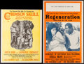 "Movie Posters:Black Films, The Crimson Skull & Other Lot (Norman, 1922). Uncut Pressbooks(3) (Multiple Pages, 14"" X 18.5"" & 14"" X 22""). Black Films..... (Total: 3 Items)"