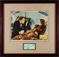 "Movie Posters:Drama, Dodsworth (United Artists, 1936). Framed Lobby Card (11"" X 14""Unframed, 19"" X 20"" Framed) & Autographed Card (4.75"" 2.5"")...."