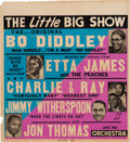 Music Memorabilia:Posters, Bo Diddley/Etta James Concert Poster (1955). Extremely Rare....