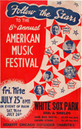 Music Memorabilia:Posters, W.C. Handy/Pearl Bailey White Sox Park Concert Poster (1947). VeryRare....