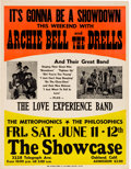 Music Memorabilia:Posters, Archie Bell And The Drells The Showcase Concert Poster (1971). VeryRare....