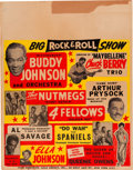 Music Memorabilia:Posters, Chuck Berry Trio/The Spaniels/Buddy Johnson Concert Poster (circa1955). Very Rare....