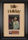 Music Memorabilia:Autographs and Signed Items, Billie Holiday Signed Color Portrait Print (circa 1940s). Rare....