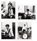 Music Memorabilia:Autographs and Signed Items, Beatles Group of Four Dezo Hoffman Photographs (UK, 1962 /1980s)....