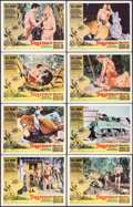 "Movie Posters:Adventure, Tarzan and the Valley of Gold (American International, 1966). LobbyCard Set of 8 (11"" X 14""). Adventure.. ... (Total: 8 Items)"