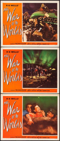 "Movie Posters:Science Fiction, The War of the Worlds (Paramount, 1953). Lobby Cards (3) (11"" X14""). Science Fiction.. ... (Total: 3 Items)"