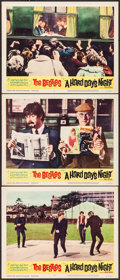 "Movie Posters:Rock and Roll, A Hard Day's Night (United Artists, 1964). Lobby Cards (3) (11"" X14""). Rock and Roll.. ... (Total: 3 Items)"