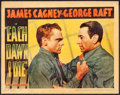 "Movie Posters:Crime, Each Dawn I Die (Warner Brothers, 1939). Linen Finish Lobby Card(11"" X 14""). Crime.. ..."