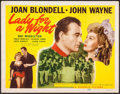 "Movie Posters:Drama, Lady for a Night (Republic, R-1950). Title Lobby Card (11"" X 14"").Drama.. ..."
