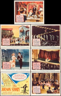 "Movie Posters:Drama, The Jolson Story (Columbia, 1946). Title Lobby Card & LobbyCards (6) (11"" X 14""). Drama.. ... (Total: 7 Items)"