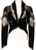 Music Memorabilia:Costumes, Linda Thompson Elaborate 'Feathered' Pantsuit Worn with Elvis Presley (circa 1970s)....