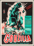 "Movie Posters:Science Fiction, Godzilla (Trans World, 1957). French Moyenne (23.5"" X 31.5"").Science Fiction.. ..."